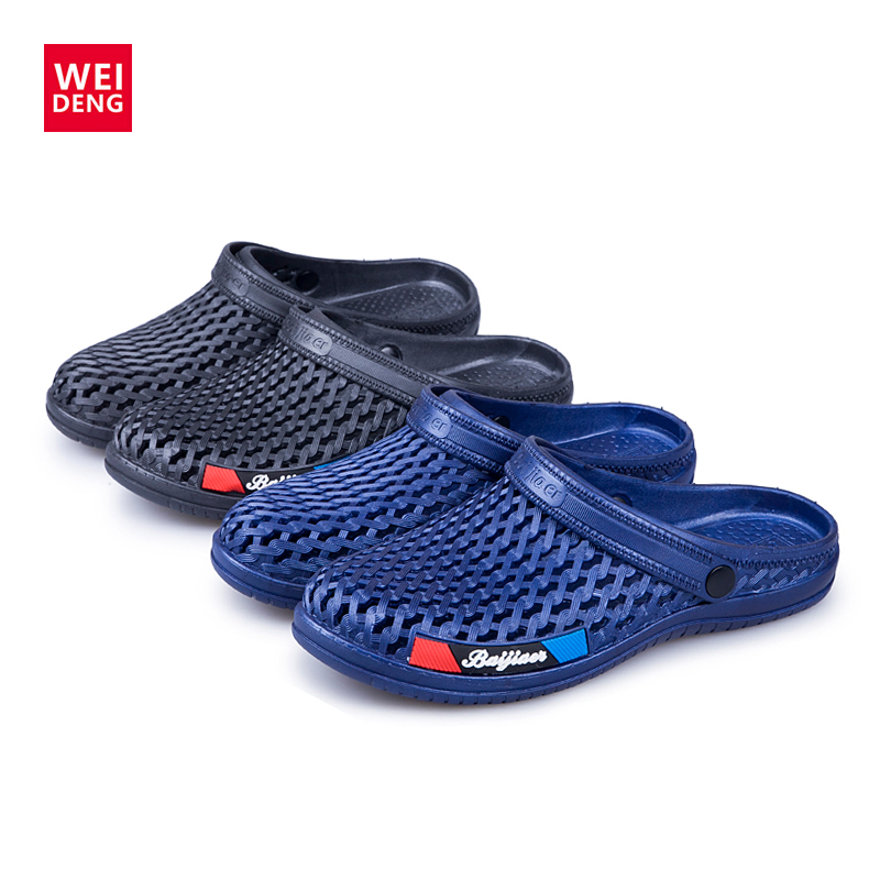 WeiDeng Antiskid Beach Comfortably Croc Summer Water Shoes For Men Sports Sneakers Hiking Sandals Breathable Sandals Slip On