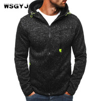Brand 2018 Hoodie Zipper Cardigan Hoodies Men Fashion Tracksuit Male Sweatshirt Hoody Mens Purpose Tour XXL