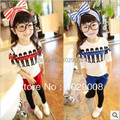 2014 female child spring and autumn Royal Soldier Set long-sleeve T-shirt legging parent-child sets