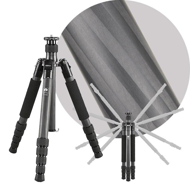 SIRUI T-2205X T2205X Professional Carbon Fiber Flexible Camera Tripod 5 Section Carrying Bag Max Loading 12kg DHL Free Shipping