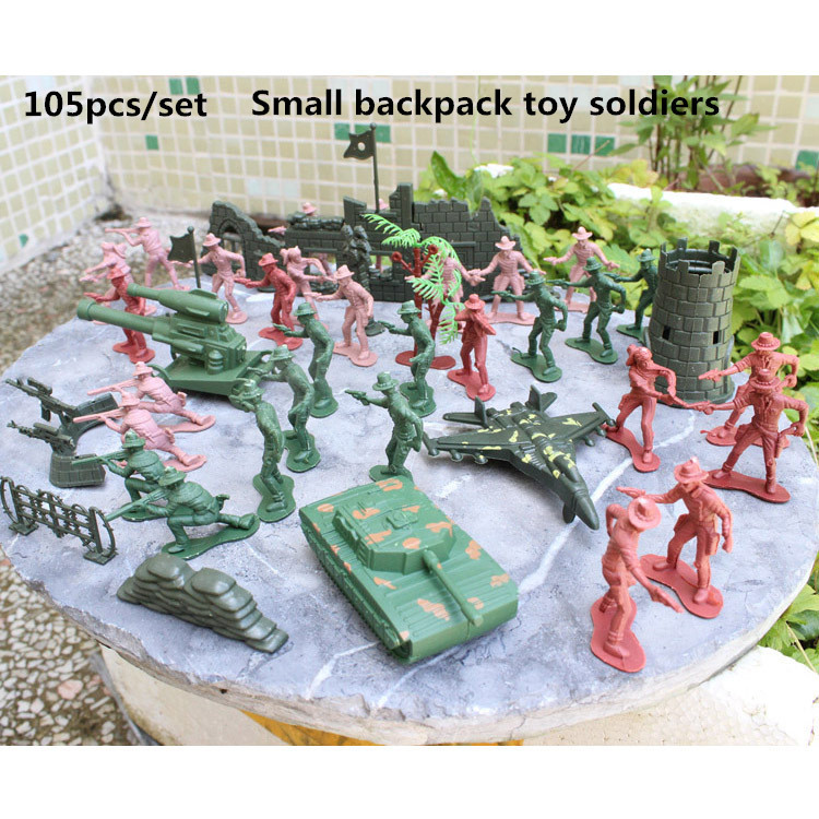 Action & Toy Figures Amicable 105pcs/set West Cowboy Military Model Base Childrens Mental Sand Table Model Of Military Toys Satchel Action Figure Collectible Consumers First