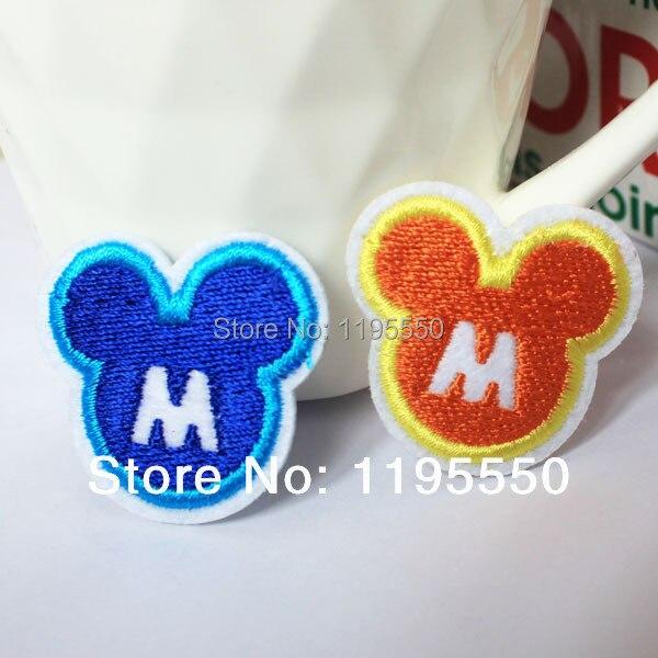 Wholesale iron on brand logo patch micky mouse