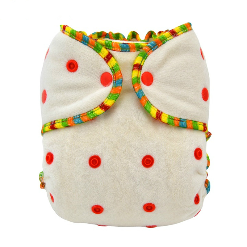 1pc Lilbit Baby Reusable And Washable Bamboo Fitted Diaper