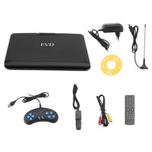 Portable DVD Player 9.8 Inch TFT LCD 270 Degree Swivel Screen Digital Multimedia Player EVD With TV Tuner EU Plug