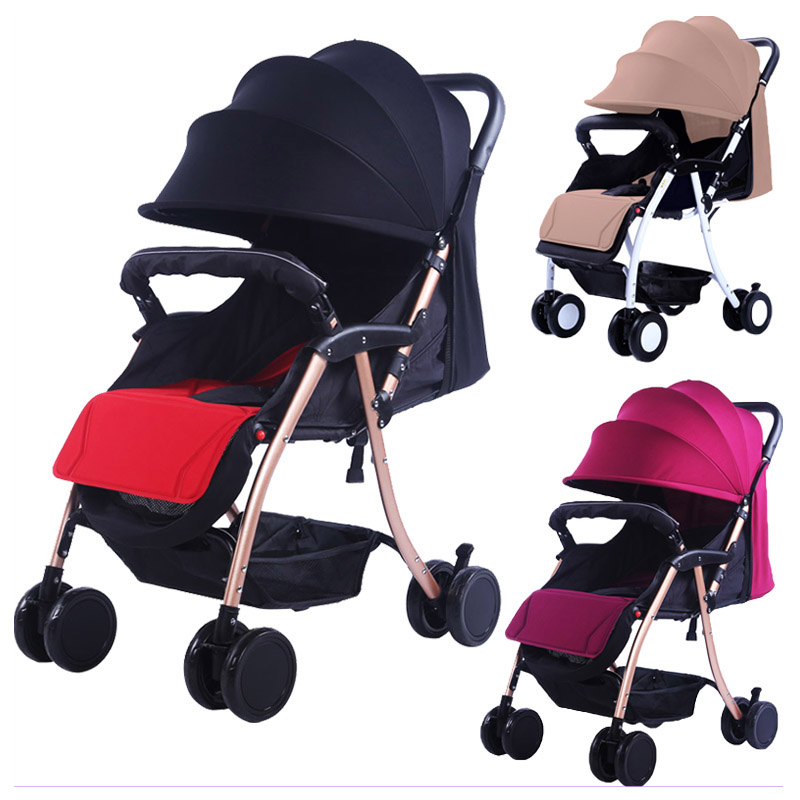 Portable Baby Stroller Can Sit Flat Lying Baby Folding Umbrella Car Trolley Shock Absorber Four Wheels Stroller Pram Pushchair моноподы экспедиция штатив для селфи зеленый