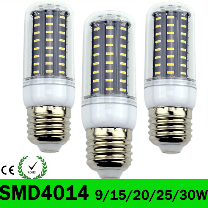 E27 E14 Led Corn Light bulbs SMD4014 Lamp 220V 36 56 72 96 138LEDs replace incandescent 40W 60W 80W 100W 120W lampada Led Bulbs
