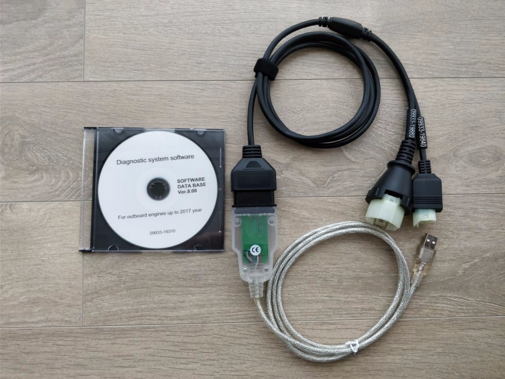 Professional Outboard Marine Diagnostic kit for Suzuki Molded connectors and last SDS v 8 00