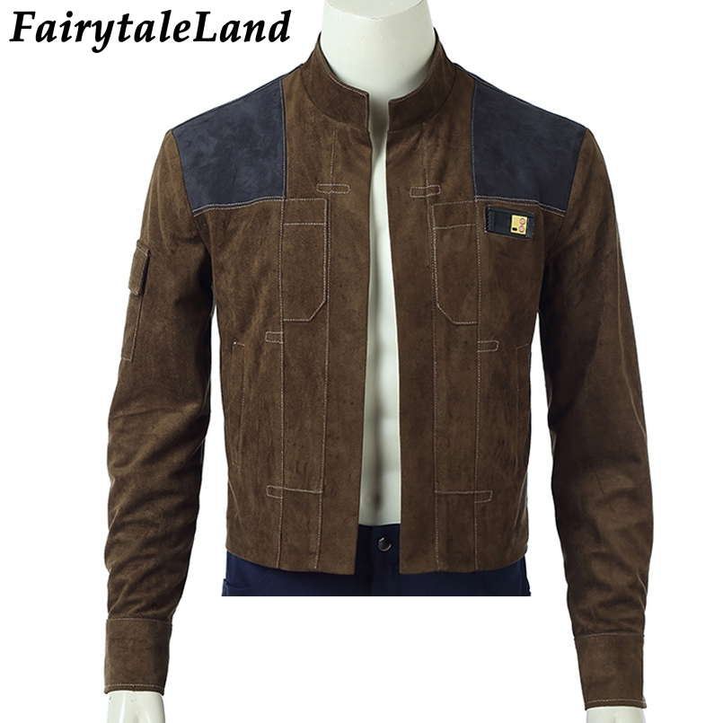 Han Solo Jacket Halloween costumes Cosplay Solo A Star Wars Story Han Solo Jacket Superhero Costume Custom Made unisex coat