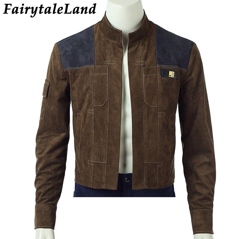 Han Solo Jacket Halloween Costumes Cosplay Solo A Star Wars Story Han Solo Jacket Superhero Costume Custom Made Unisex Coat