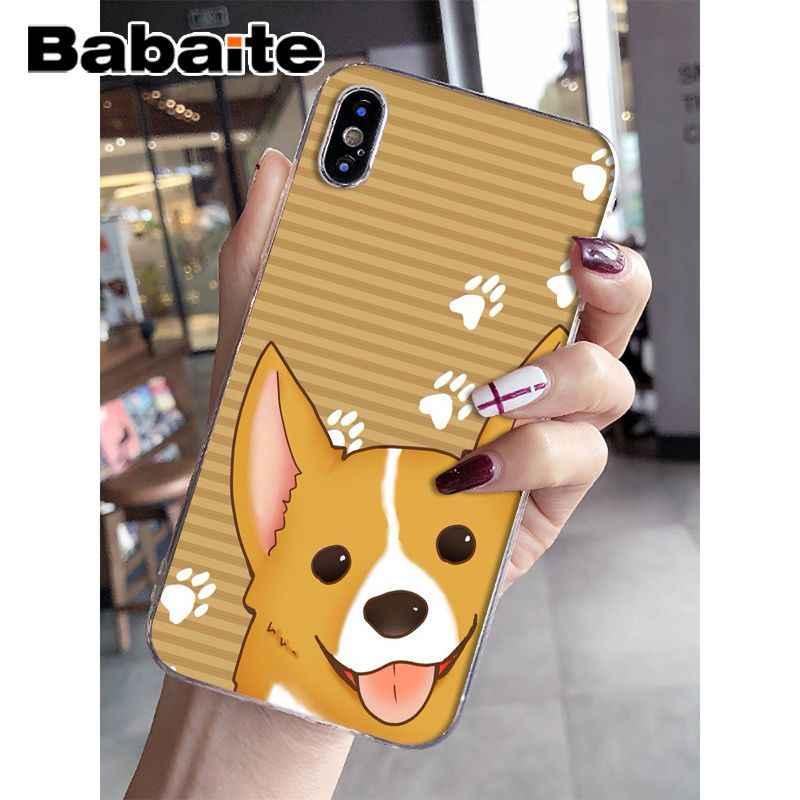 Babaite милый корги мультфильм собака Новое поступление Прозрачный чехол для сотового телефона Apple iPhone 8 7 6 6 S Plus X XS MAX 5s SE XR чехол