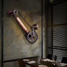 Винтажная ретро-колесо Светодиодная лампа в стиле стимпанк бар кофейня Ресторан Лофт бра лампа деревенский абажур лампе стимпанк