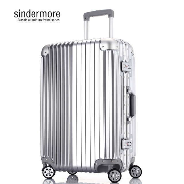 Sindermore 29' High-end classic Aluminum frame Password TSA luggage Hard surface trolley Business fashion Leisure travel Luggage