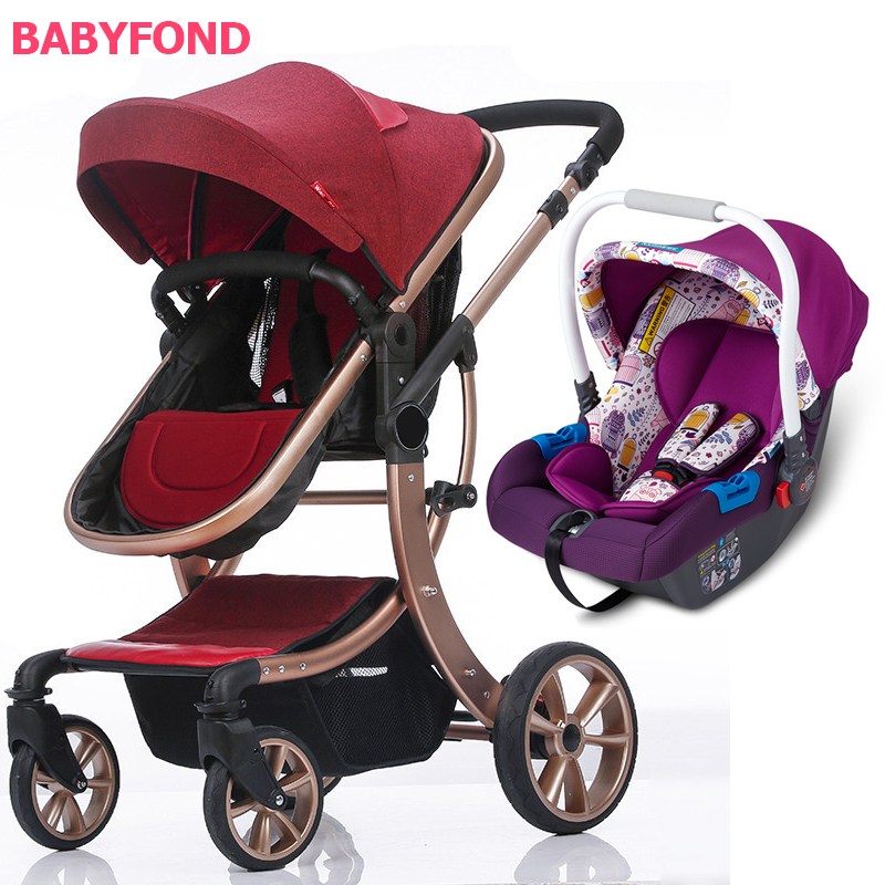 Free shipping !3 in 1 EU  Baby Stroller high quality Export High Landscape trolley  Can Sit  and Lying baby Cart with car seat Free shipping !3 in 1 EU  Baby Stroller high quality Export High Landscape trolley  Can Sit  and Lying baby Cart with car seat