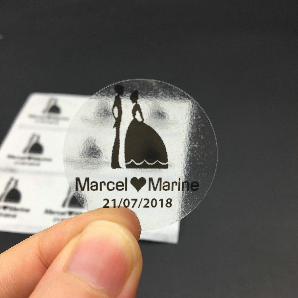 100 pcs 30mm wedding sticker logo eyelashes sticker customize personalised name