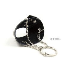 Cock Ring Leather Restraint Penis Sleeve+ Metal Cock Ring Adult Sex Toys For Men Sex Product Cock Cage Chastity Belt Male Device