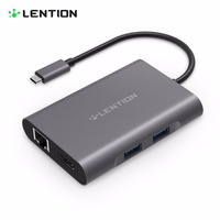 LENTION All In 1 USB C Dock Station USB C Hub To PD Charger USB3 0