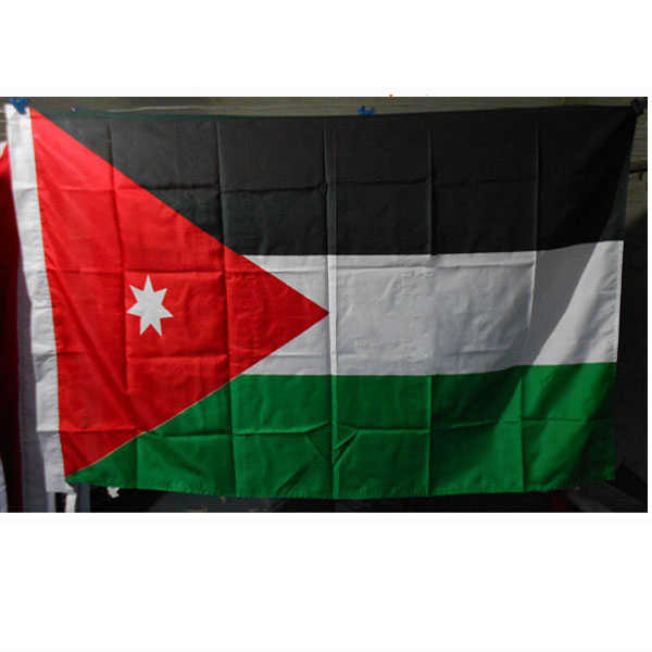 2018 The Jordan Flag Polyester Flag 5*3 FT 150*90 CM High Quality you can add brass buckle(leave massage)
