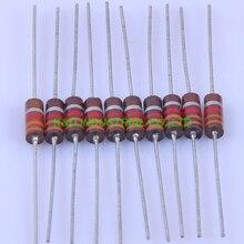 10pcs Carbon Composition vintage Resistor 0.5W 3.3R ohm 5 % цена