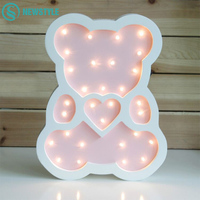 New Style Wooden Bear LED Night Light Cartoon Bedside Wall Night Lamp Light Children Baby Kids