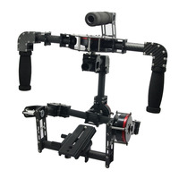 3 Axis Handle DSLR Carbon Fiber Brushless Gimbal W 3pcs Motors Handle Camera Mount For Photography