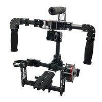 3 Axis Handle DSLR Carbon Fiber Brushless Gimbal W 3pcs Motors Handle Camera Mount For Photography