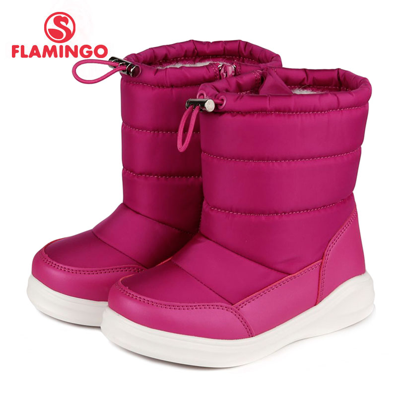 FLAMINGO 2017 new collection winter fashion snow boots with wool high quality anti-slip kids shoes for girl 72D-NQ-0436/ 0437 flamingo 2017 new collection winter fashion snow boots with wool high quality anti slip kids shoes for girl 72m yc 0430 0431