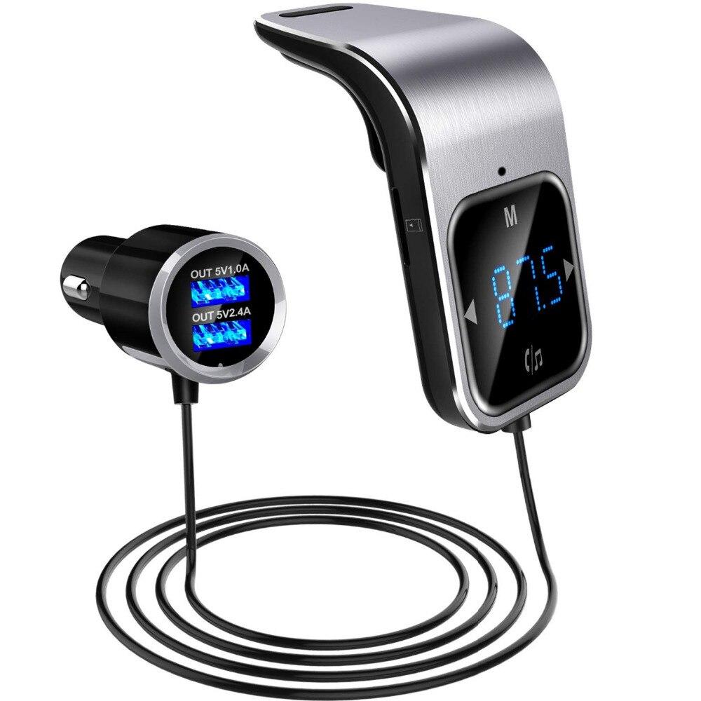 FM Transmitter Bluetooth Auto Wirless Radio Adapter AUX MP3 Player FM Modulator mit Hände-freies Sprechen Dual USB Schnelle ladegerät