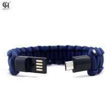 Umbrella Rope Bracelet For Samsung Xiaomi Android USB Data Cable Charger Multifunction Bracelets Bangles