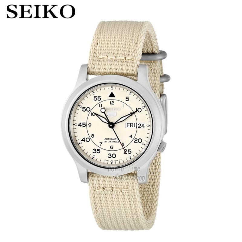 SEIKO Watch No. 5 Automatic Fashion simple mechanical watch SNK379K1 SNK807K2 SNK809K1 SNK809K2 SNK385K1 SNK803K2 SNK805K2 часы seiko snk805k2