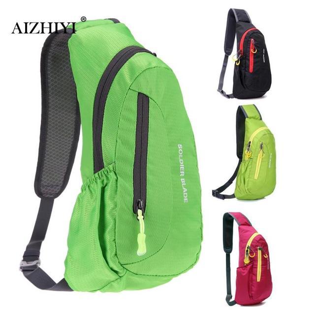 a150f50c7803 Unisex Waterproof Nylon Chest Bag Men Women Portable Casual Shoulder Bag  Diagonal Package Casual Solid Phone Bag