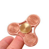 US Dollar Coins Gyro Fidget Hand Tri Spinner EDC Toys Metal Brass Torqbar Ceramic Bearing Spinner