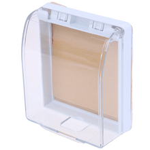 Пластиковый настенный выключатель, водонепроницаемый чехол, настенный светильник, панельная розетка, дверной звонок, откидная крышка, прозрачная крышка для ванной, кухни, опт