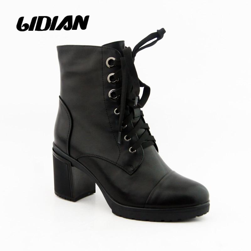 LIDIAN Dámské boty Originální kožené ruční motocykl Ženy - Dámské boty