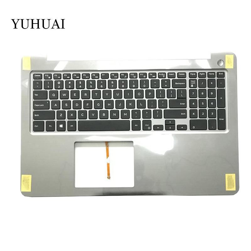 NEW laptop keyboard for DELL INSPIRON 15-5000 5565 5567 US Backlit keyboard with palmrest Upper PT1NY 0PT1NY laptop parts for lenovo yoga 2 13 yoga2 13 black palmrest with backlit sweden sw1 keyboard 90205189
