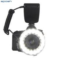 Spash RF-600E Lampą Błyskową Led Macro Ring Flash Speedlite dla Sony Lampa Błyskowa 18 sztuk SMD LED Lampa Wideo z 8 sztuk Pierścień Adaptera