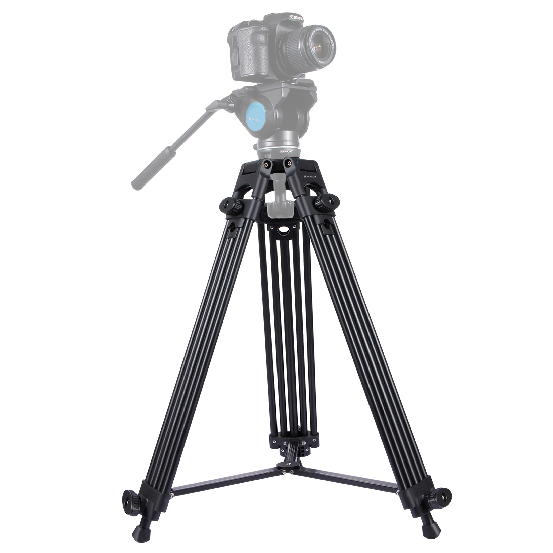 PULUZ Professional Heavy Duty Tripod Video Camera Camcorder Tripod Monopod Aluminum Alloy Tripod for Canon Sony DSLR SLR Camera tripod handle camcorder eng lens controller with rec zoom control for lenses from fuji or canon professional broadcast camera