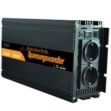 Чистая синусоида инвертор 2500 Вт DC12V к AC 220 В для бытовой техники-новый пульт дистанционного