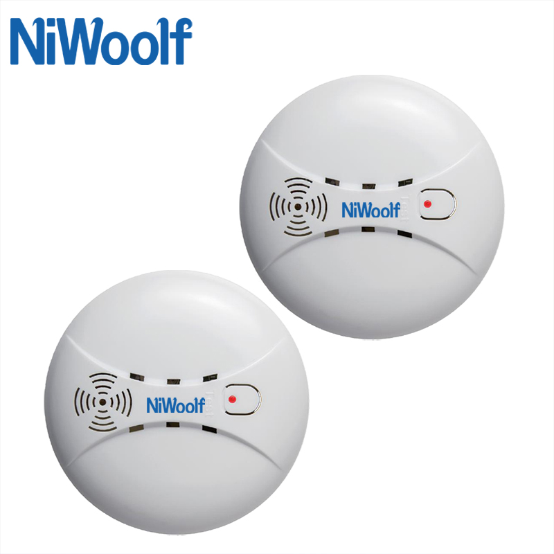 NiWoolf 433MHz Wireless Smoke Detector High Sensitivity Smoke Sensor Alarm For Our Home Burglar (Wifi / PSTN / GSM) Alarm System