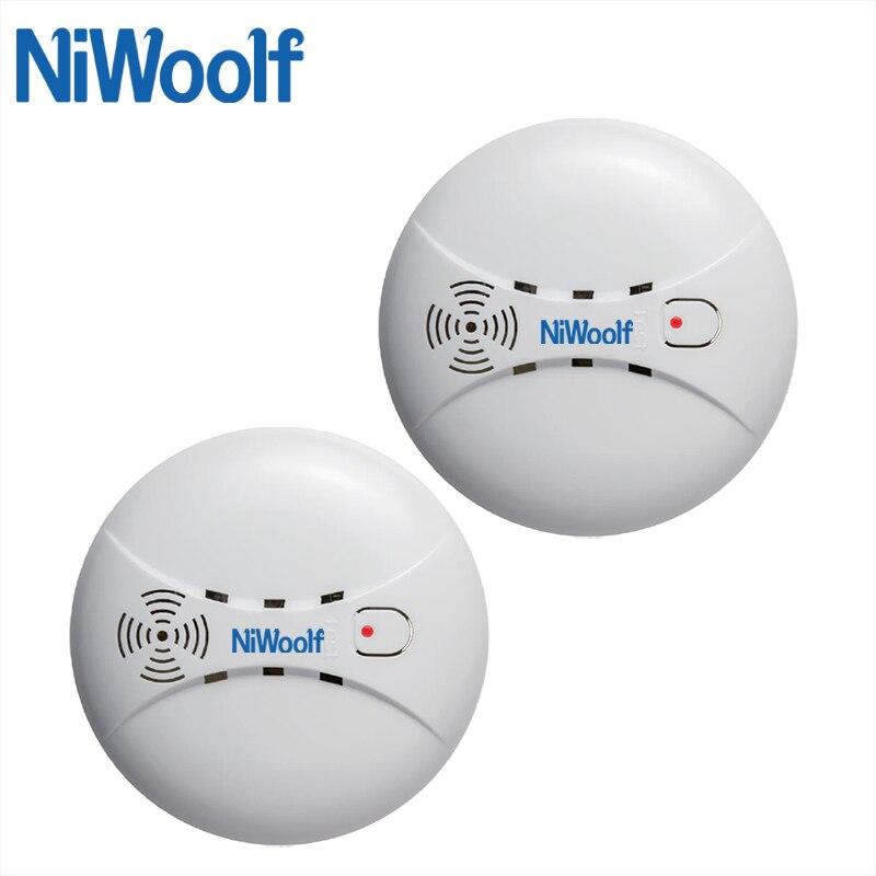 NiWoolf 433MHz Wireless Smoke Detector High Sensitivity Smoke Sensor Alarm For Our Home Burglar (Wifi / PSTN / GSM) Alarm System