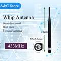 433 MHz antena de látigo UHF antena SMA-Macho conector de Antena para walkie BAOFENG UV-3R VX-3R VX-6R VX-160 PX-A6 TH-UVF9 KG-UV6D