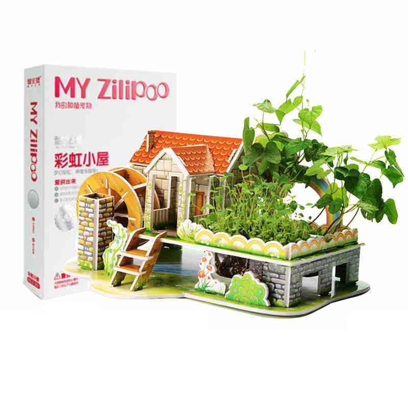 Посадка 3Д пазл развитие интеллекта игрушки Бумага модели здания головоломки подарки для детей