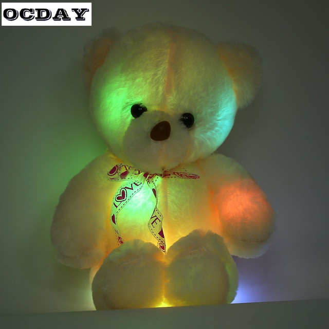 e2211531fa3 50cm LED Teddy Bear Stuffed Light Up Toys Creative Colorful Glowing Bear  Birthday Xmas Gift Plush