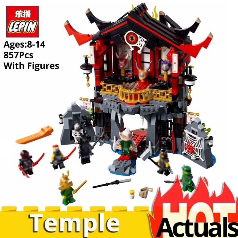 LEPIN Ninja Go 06078 Temple of Resurrection free shipping blocks Toys for Children gift legoINGlys 70643 architecture diy house марк бойков 泰坦尼克之复活 возвращение титаника resurrection of titanic