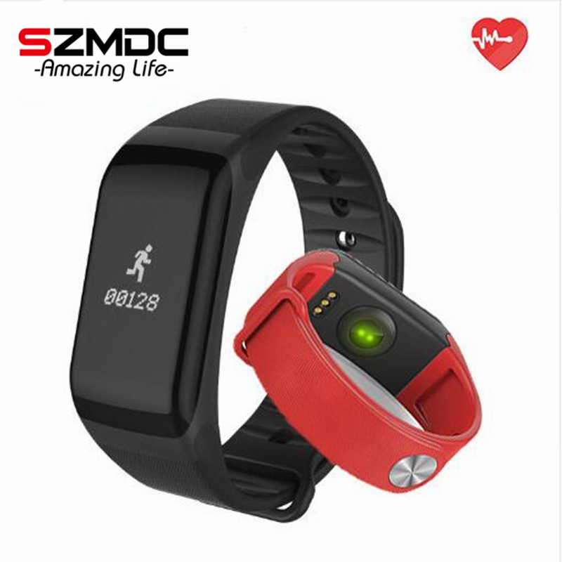 SZMDC Fitness Tracker Wristband Heart Rate Monitor Smart Band F1 Smartband Blood Pressure With Pedometer Bracelet