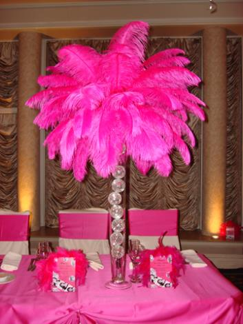Whole 500pcs Lot 12 14inch Prefect Natural Hot Pink Ostrich Feather Centerpieces Wedding Centerpiece