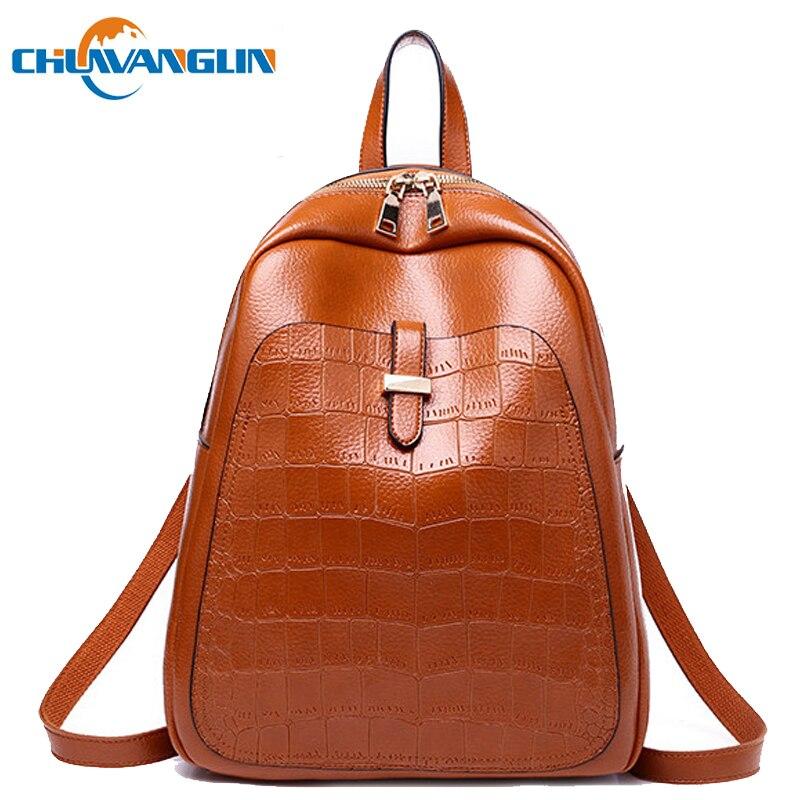 2ff26941ccc5 Chuwanglin Винтаж женские кожаные рюкзаки школа моды сумки Повседневная  Многофункциональный туристические рюкзаки для девочек-подростков