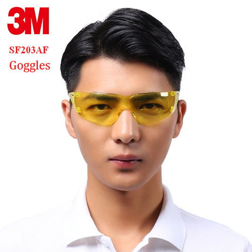 3M SF203 AF Goggles Genuine Security 3M Protection Glasses Yellow Light Section Anti-blue Light Riding A Sport Safety Goggles