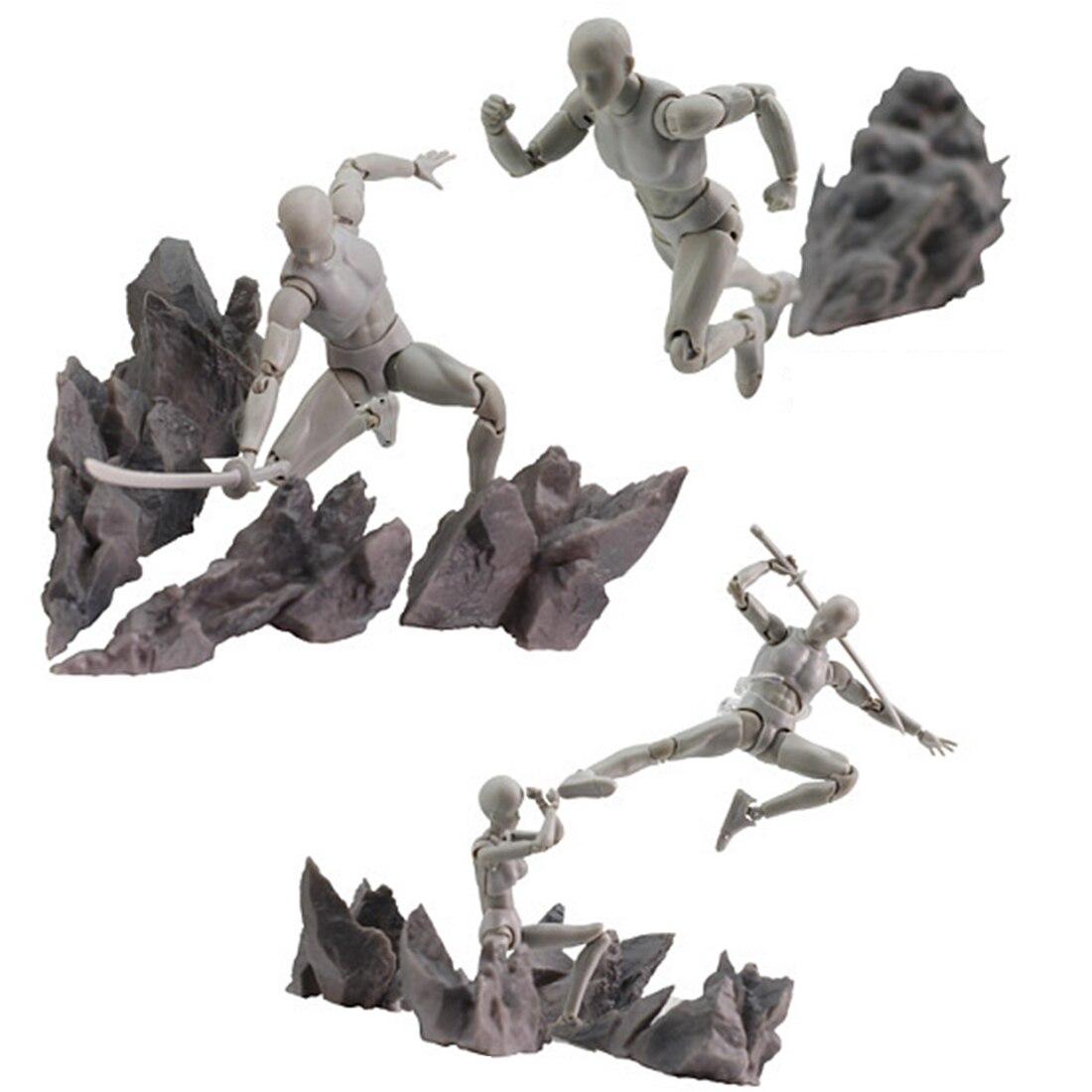 Modelo de roca de decoración de efecto de piedra rota para modelo de escala General DIY arte de pared salchicha perro cachorro perro sin marco reloj gigante de pared con efecto espejo perro salchicha grande Reloj de pared reloj