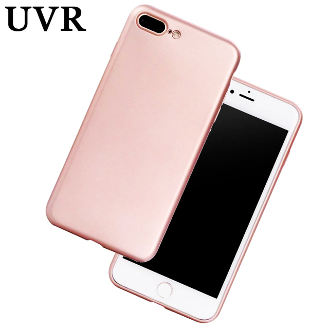 Uvr Luxury Pure Rose Gold Black Blue Red Coque Case For Iphone 5s 6