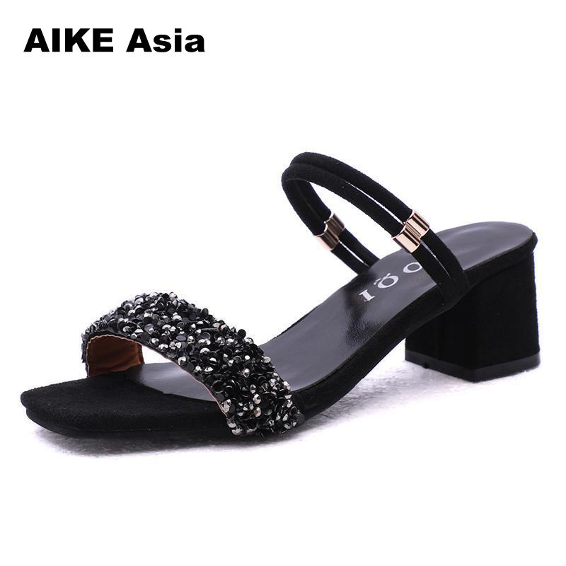 Plus Size 34-44 High Heels Shoes Women Fashion Sandals Pumps Summer Sexy  Ladies Casual Wedding Ankle Strap  2018 #169-1Plus Size 34-44 High Heels Shoes Women Fashion Sandals Pumps Summer Sexy  Ladies Casual Wedding Ankle Strap  2018 #169-1